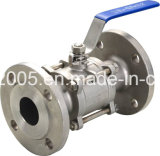 Food IndustryのためのFull Bore 2部分のFemale Ball Valve