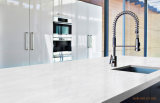 Folha de superfície contínua acrílica modificada branco da geleira da decoração 6mm para o material de construção do painel de parede