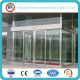 Huneng Brand Clear Tempered Glass Glass Portas de vidro