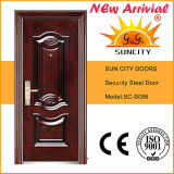 Style indiano Door in Door Steel Door con Window Design (SC-S092)