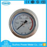 indicateur de pression rempli d'huile monté par panneau d'acier inoxydable de 100 millimètres