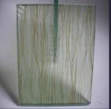 vidro laminado desobstruído e colorido de 4+4mm da segurança com telas diferentes