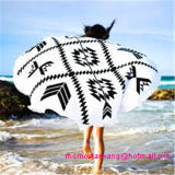 Essuie-main de plage estampé par cercle rond dans Wholeasle avec la qualité