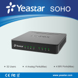 15 portos portuários simultâneos da chamada FXS FXO suportaram o sistema do IP PBX de Soho
