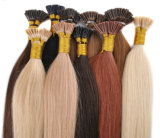Chaud vendant la prolongation pré collée de cheveux humains