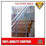 Acero inoxidable pasamano de la escalera de madera de diseño (JBD-B028)