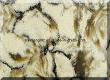 Bancada artificial de mármore branca da pedra de quartzo