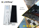 1개의 태양 자동 센서 빛 통합 태양 가로등 50W에서 모두