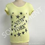 T-shirt Slimmed forma da cópia das mulheres por atacado (SOI-T1703)
