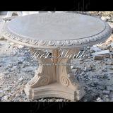 大理石のベンチ及び表の石造りのベンチ及び表の花こう岩のベンチ及び表の砂漠の金ライト表Mbt1181