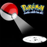 De derde Generatie Pokemon gaat de Bank van de Macht met Projectie Pikachu