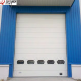 Подгонянная вертикаль высокого качества алюминиевая промышленная сползая надземную дверь
