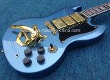 Guitarra elétrica do SG 400 novos de mogno de Angus da ponte de Bigsby dos coletores do corpo três toda a cor Availbel