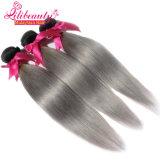 最上質のマレーシアのバージンの毛のWeft Ombre 1b/Greyの毛