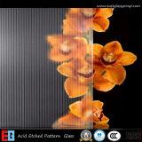 Vidro modelado Acid-Etched profundo