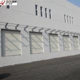 Дверь гаража высокого качества промышленная электрическая секционная сползая надземная