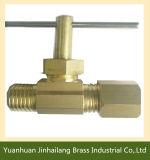 Válvula de control de bola de latón agua aguja