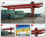 Grue de portique sur rail de conteneur d'utilisation gauche de yard