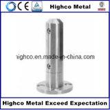 Piscina de cristal del acero inoxidable que cerca la espita de cristal con el borde redondo