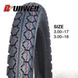 Neumáticos posteriores 3.00X17 3.00X18 Llantas de la motocicleta