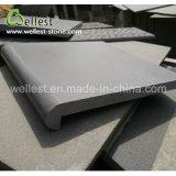 Piscina Bullnose Copings del basalto di rivestimento smerigliatrice colore grigio