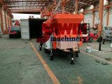 Горячий продавая смеситель установленный трейлером тепловозный конкретный с поставщиком Китая насоса