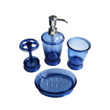 Accessoires acryliques transparents de salle de bains réglés (GW1106)