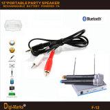 FCC-Cer-Karaoke Bluetooth FM Minilaufkatze DJ-passiv-Lautsprecher