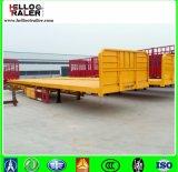 Wellen-Behälter-halb Schlussteil China-3 40 Tonnen-Flachbett-halb Schlussteil