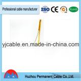 Câble téléphonique transparent de la température élevée normale OD 2.1mm 1meter D10 d'armée