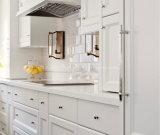 Супер белые слябы камня кварца для верхней части кухни встречной