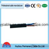 Kupferne Kern Belüftung-Isolierung und Hüllen-flaches flexibles Drahtseil-Netzkabel Rvv