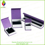 Cadre de bijou de empaquetage de papier de cadeau magnétique pourpré de fermeture