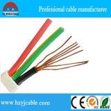Conduite de CCA, câble électrique, fil d'isolation de PVC, fil plat de 3 faisceaux
