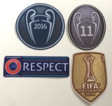 2016 Patch 2016-2017 Soccer Jersey Undecima Badge Camisa de futebol Patch Club World Champions