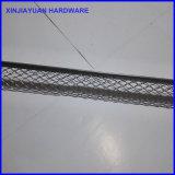 Branello galvanizzato di angolo con il bordo per il rinforzo di tirata/il branello d'angolo Consturction dello stucco