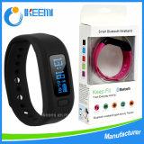 Braccialetto astuto su ordinazione di Bluetooth della vigilanza del USB del silicone/silicone del braccialetto di forma fisica/sport di fascino