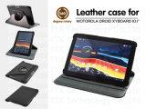 Caixa de couro giratória nova para Motorola Driod Xyboard 10.1 polegadas caixa do couro do PC da tabuleta de 360 graus