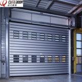 Алюминиевой изолированная спиралью трудная материальная высокоскоростная дверь завальцовки