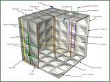 GRP (ガラス繊維によって補強されるプラスチック)の長方形の地上の水漕の容器