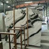 Mármol de madera negro, losas de mármol blancas de la panda de piedra natural, piedra de mármol