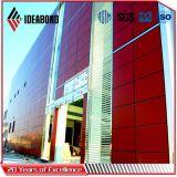 Ideabond PVDF, das 4mm External ACP-Aufbau-zusammengesetztes Aluminiumpanel beschichtet