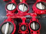 Клапан-бабочка красного цвета с сертификатом ISO Ce
