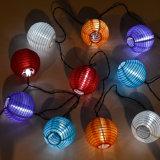 Luces solares de hadas 2016 de la cadena de la linterna del partido del patriota de la Navidad