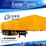 2-3 tipo resistente da caixa de carga do transporte reboque dos eixos 35-60t Van Semi (LAT9340XXY)