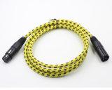 Nylon Schede 3pin het Mannetje van de Kabel XLR aan Wijfje voor Microfoon