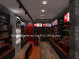 Elegante montado en la pared de metal estante de exhibición de prendas de vestir para damas Tienda de ropa de diseño