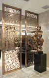 Écran décoratif personnalisé de partition de pièce de restaurant d'acier inoxydable de couleur