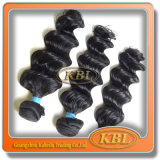 cabelo do brasileiro do preto de jato dos materiais 5A