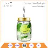 ハンドルのない普及したガラスSipperの飲み物の瓶